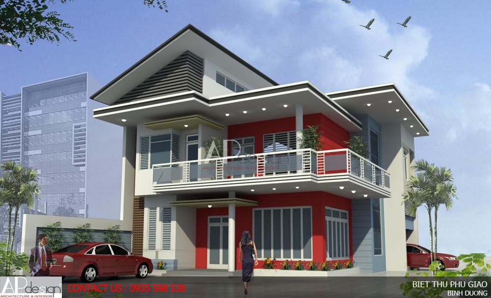 Thiết kế biệt thự Phú Giáo - Binh Dương