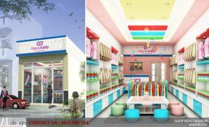 Thiết kế nội thất shop thời trang trẻ em