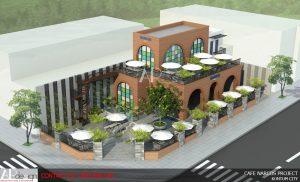 Thiết kế Quán Cafe sân vườn Narcos