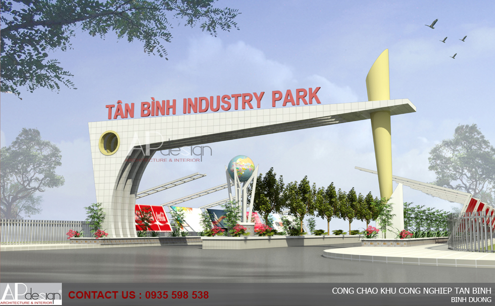 Thiết kế Cổng chào khu công nghiệp Tân Bình