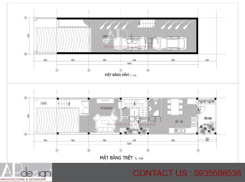 Thiết kế nhà phố Võ Trường Huy - Quận 2