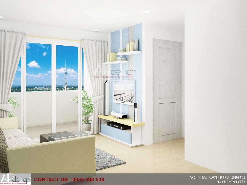 Thiết kế nội thất căn hộ Riverside Garden