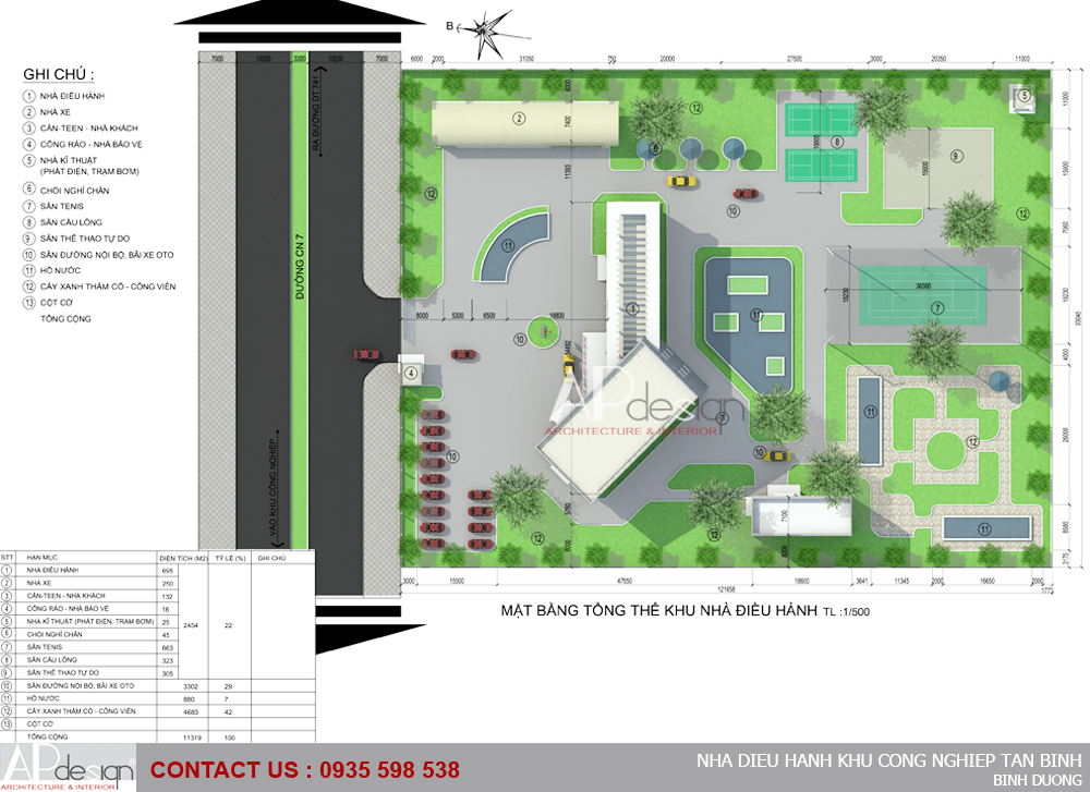 Thiết kế Nhà điều hành khu công nghiệp Tân Bình