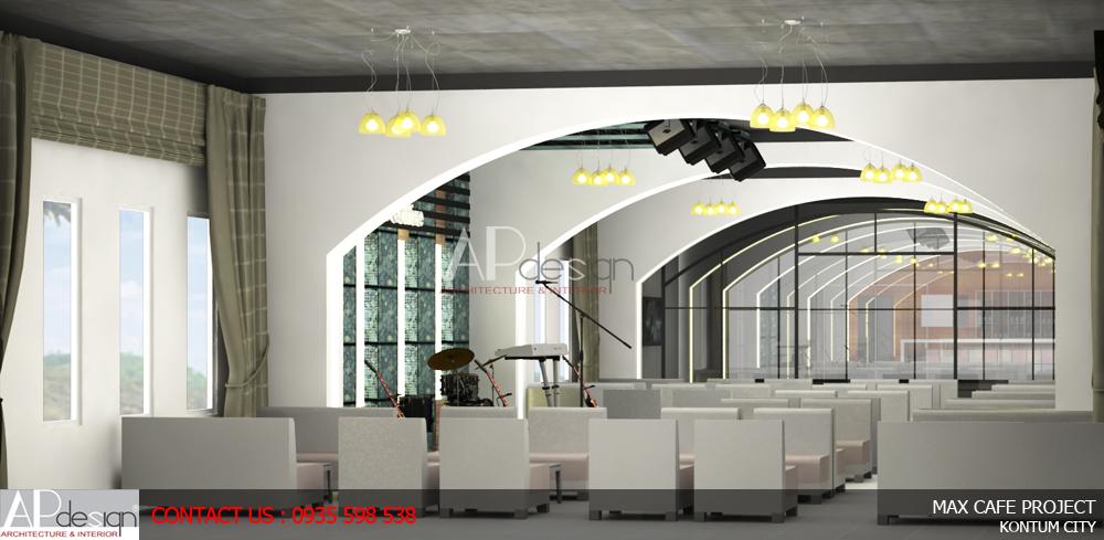 Thiết kế Quán Cafe Bar sân thượng Max Cafe