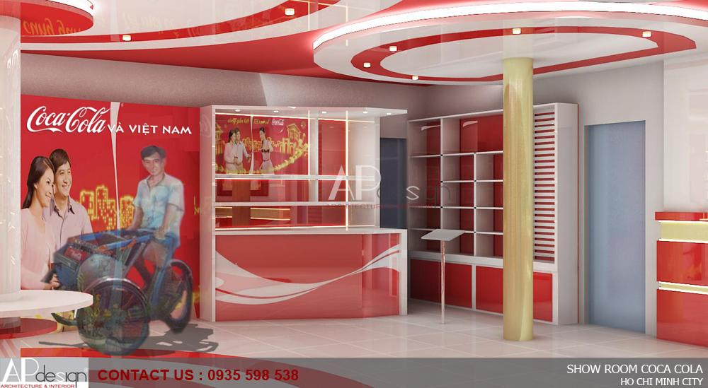 Thiết kế nội thất Showroom Coca Cola