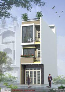 Thiết kế nhà phố anh Trần Lai - Quận Tân Bình