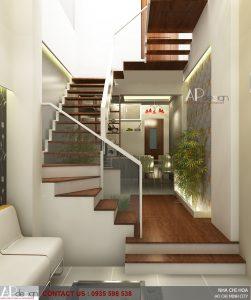 Thiết kế nhà phố lệch tầng 3 x 16 - Quận 10