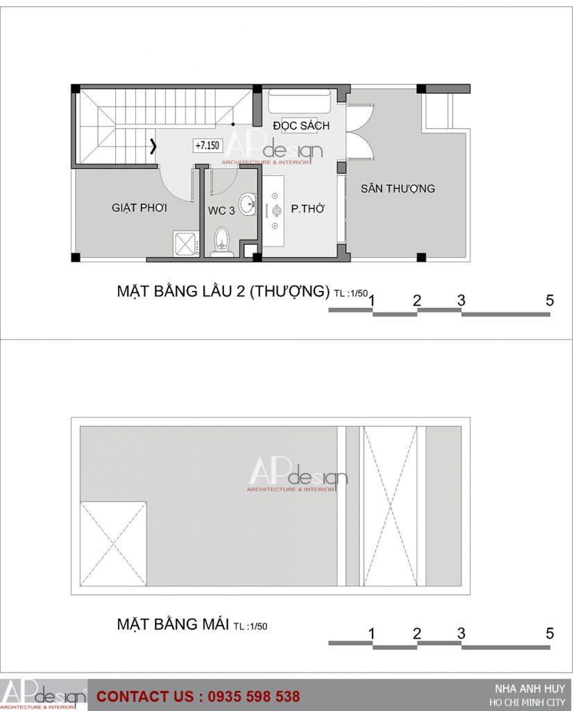 Thiết kế nhà phố diện tích nhỏ 4 x 8 - Quận 12
