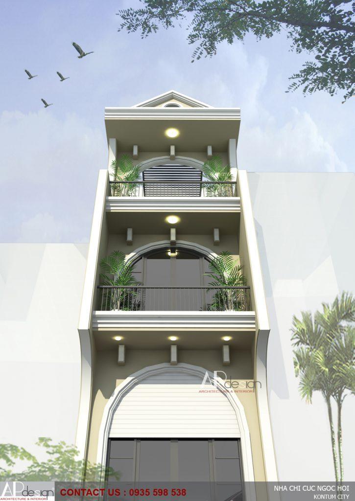 thiết kế nhà phố cố điển
