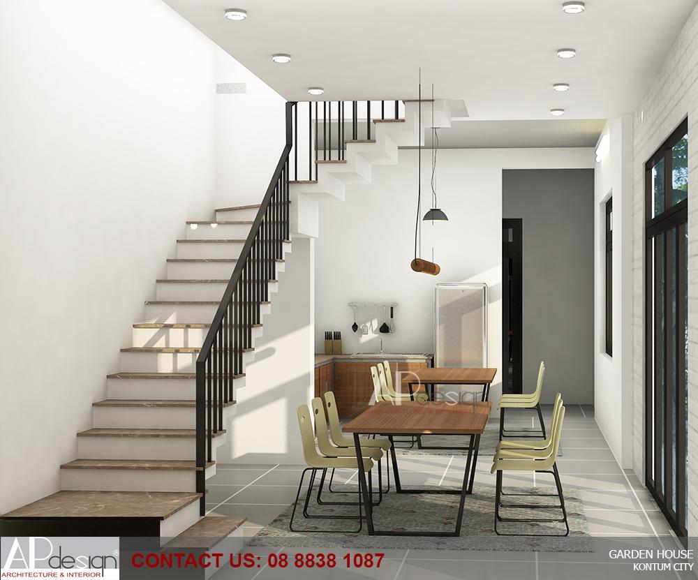 thiết kế nội thất biệt thự vườn 1 tầng