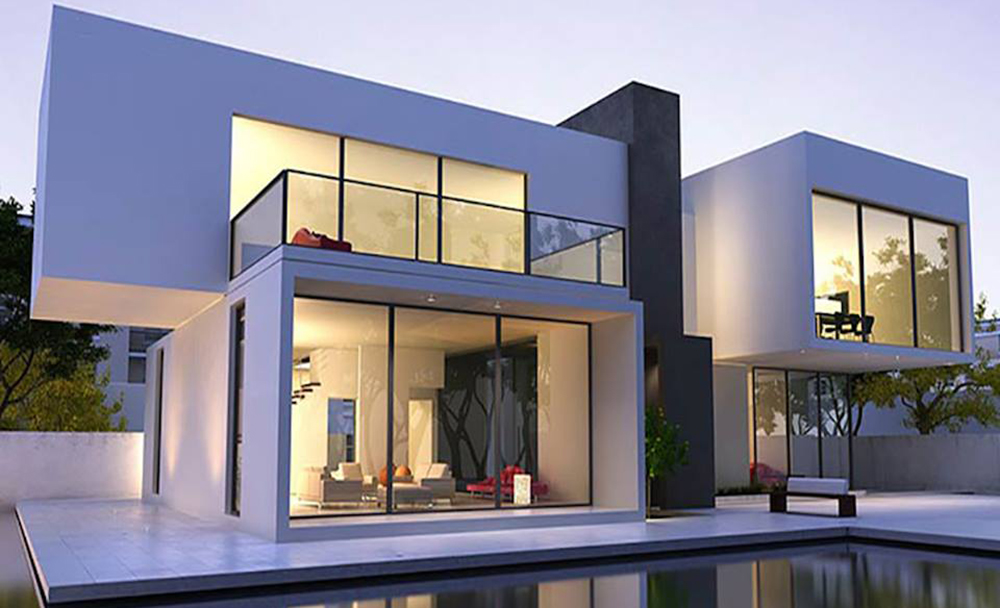 thiết kế biệt thự phong cách hiện đại