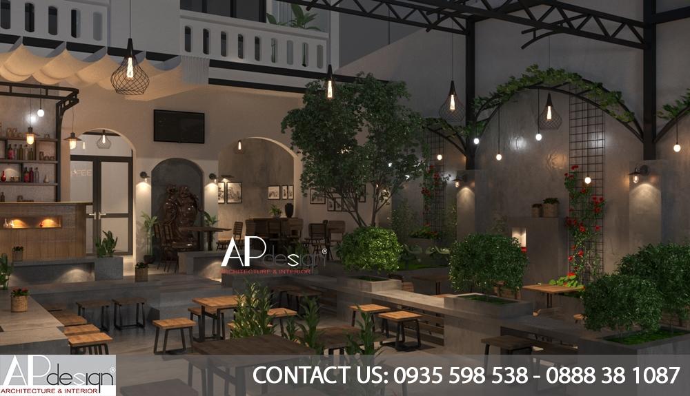 thiết kế cafe sân vườn đẹp