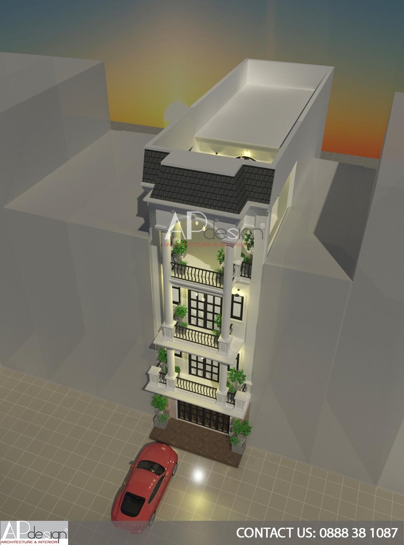 Thiết kế nhà phố cổ điển 5m