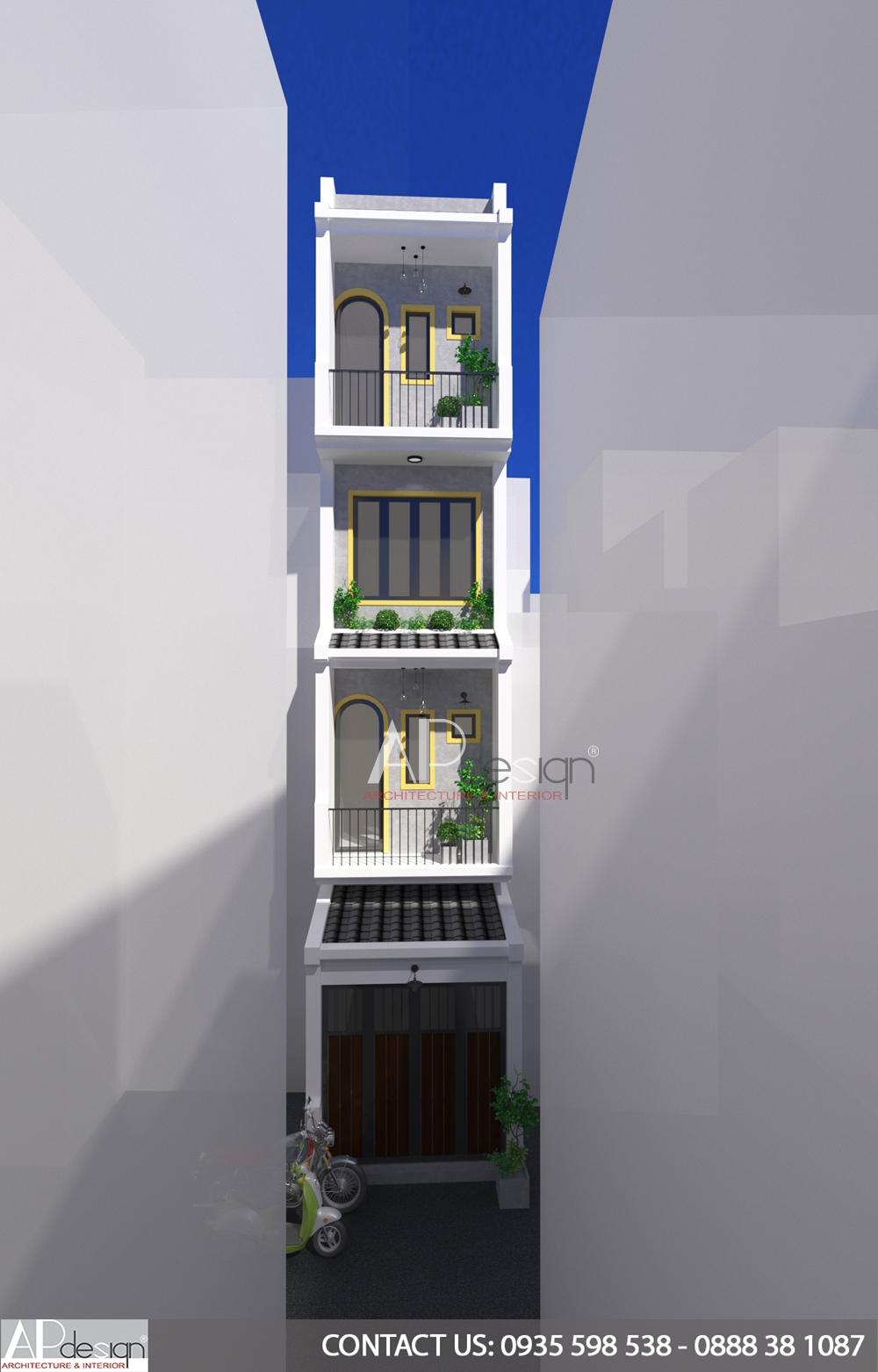 mặt tiền nhà phố 3m