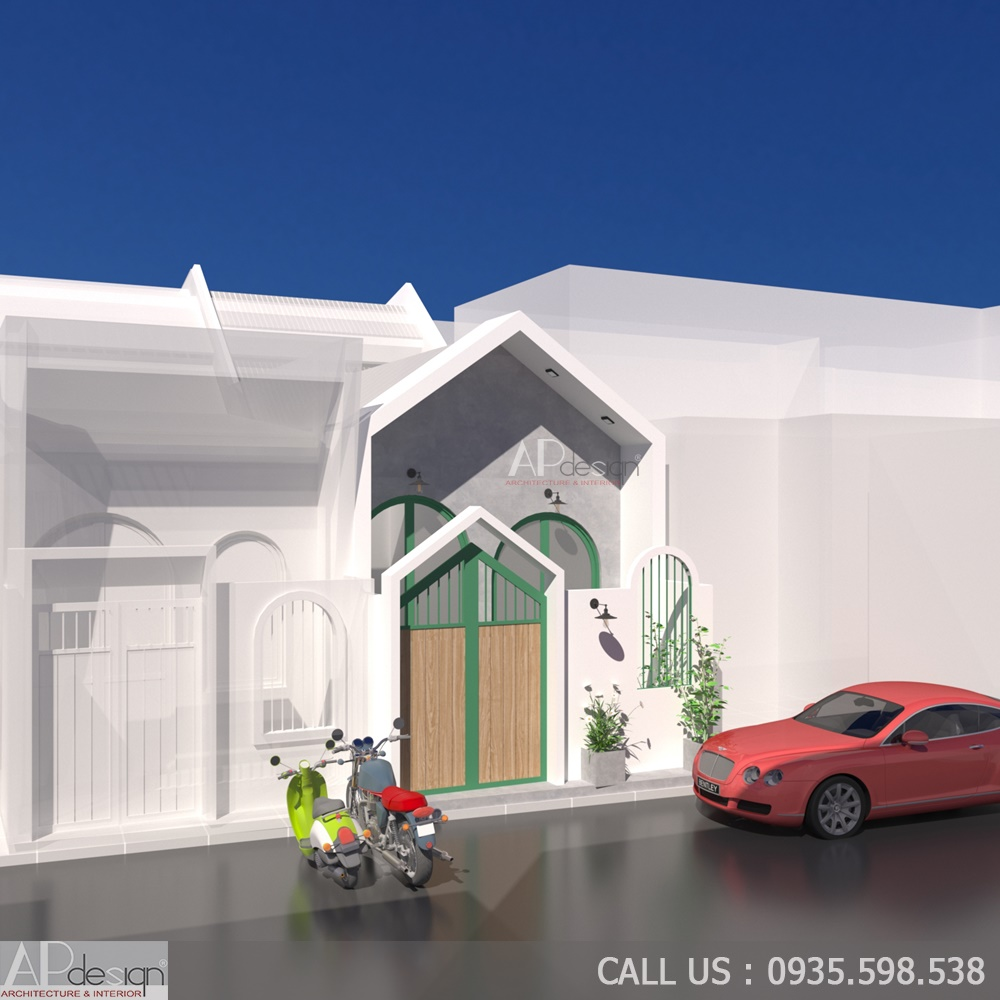 Thiết kế nhà cấp 4 4x12m