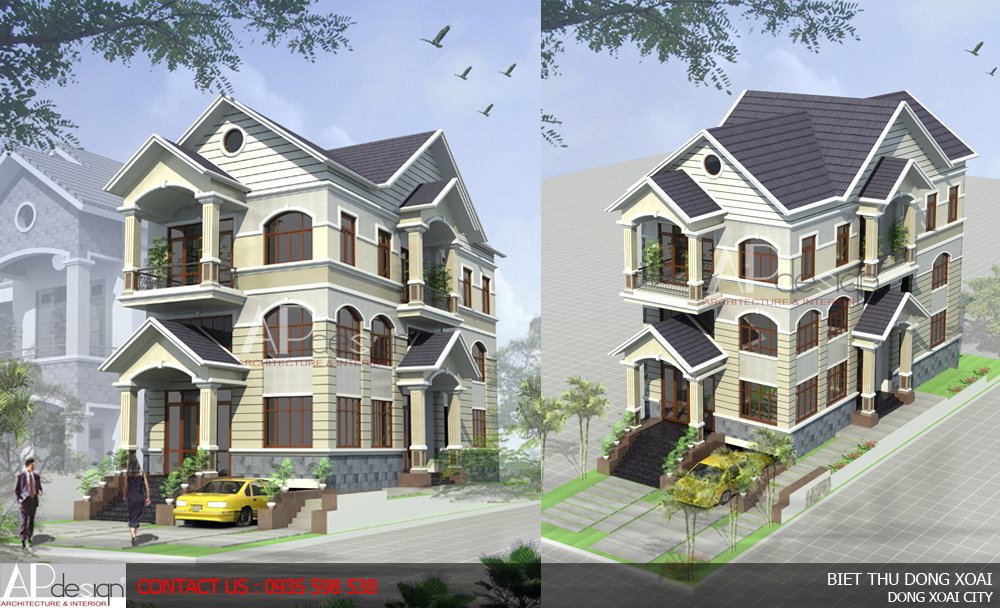 Thiết kế biệt thự Đồng Xoài - Binh Phước