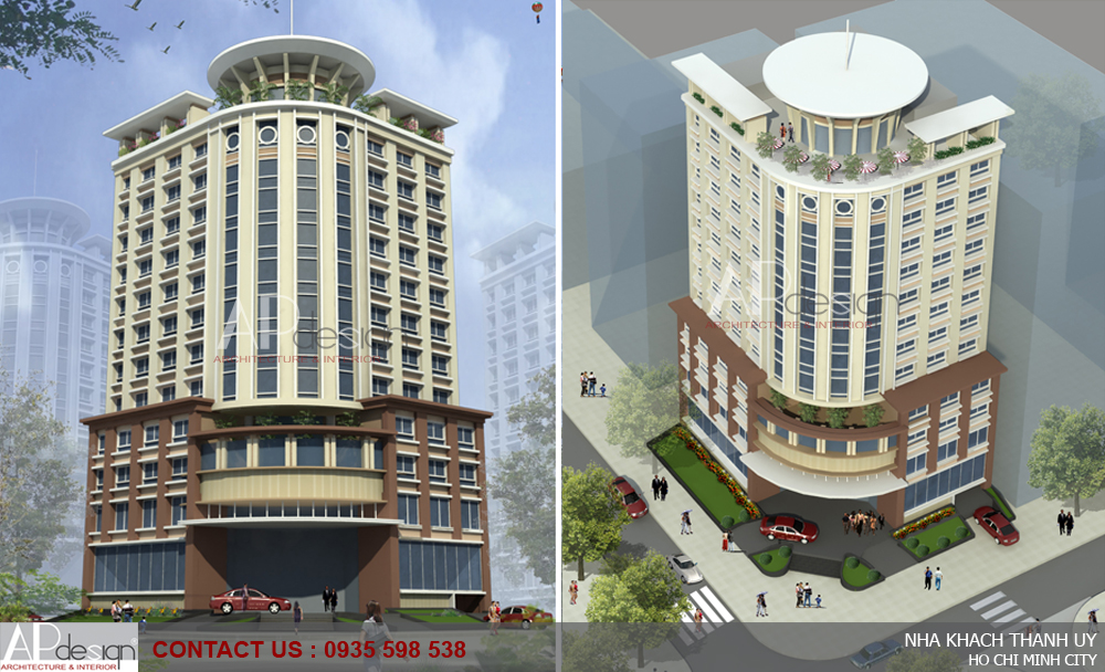 Thiết kế khách sạn Nhà Khách Thành Ủy