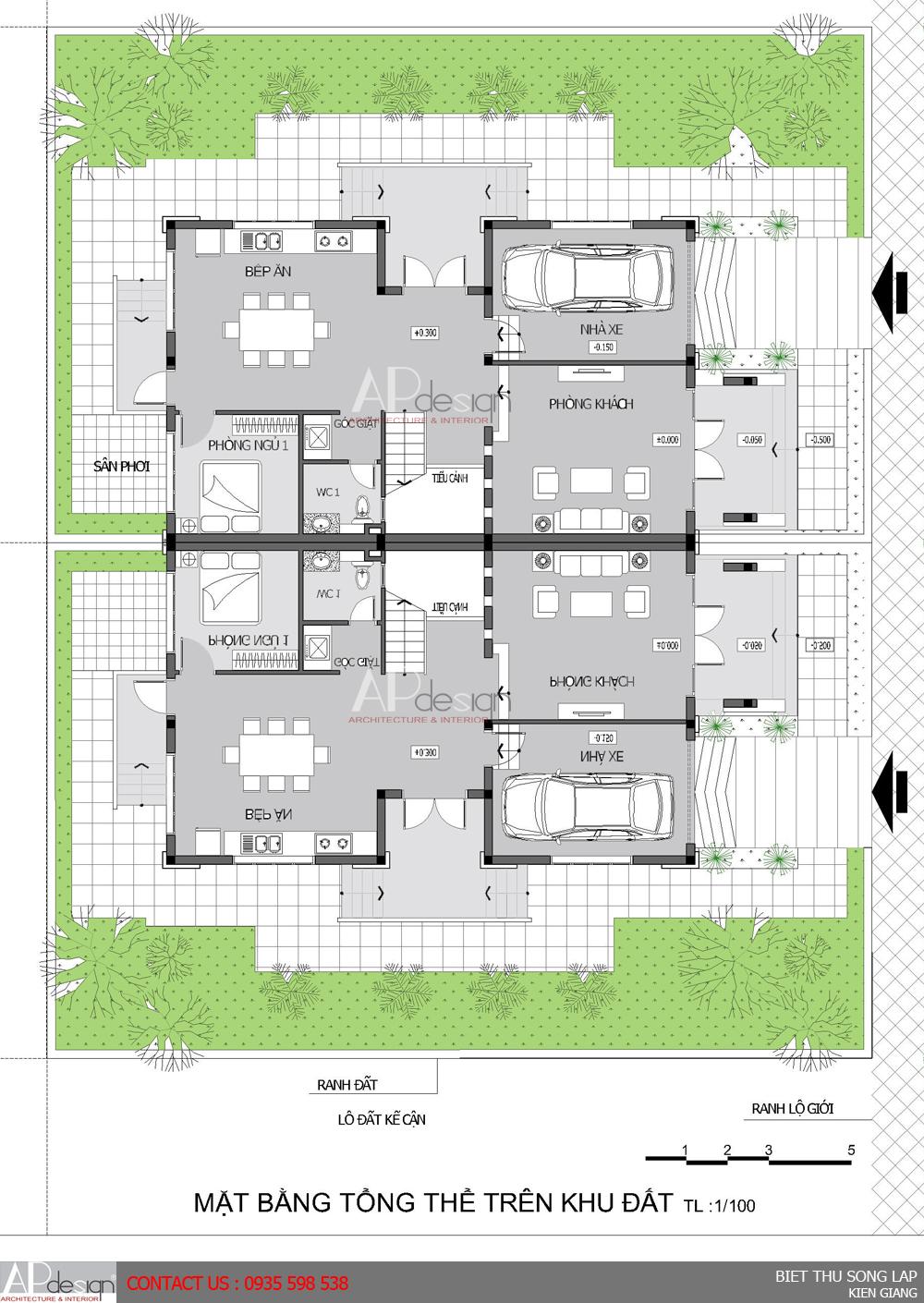 Thiết kế biệt thự song lập - Kiên Giang