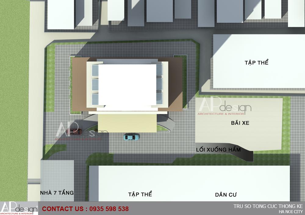 Thiết kế cao ốc văn phòng Trụ sở Tổng cục thống kê