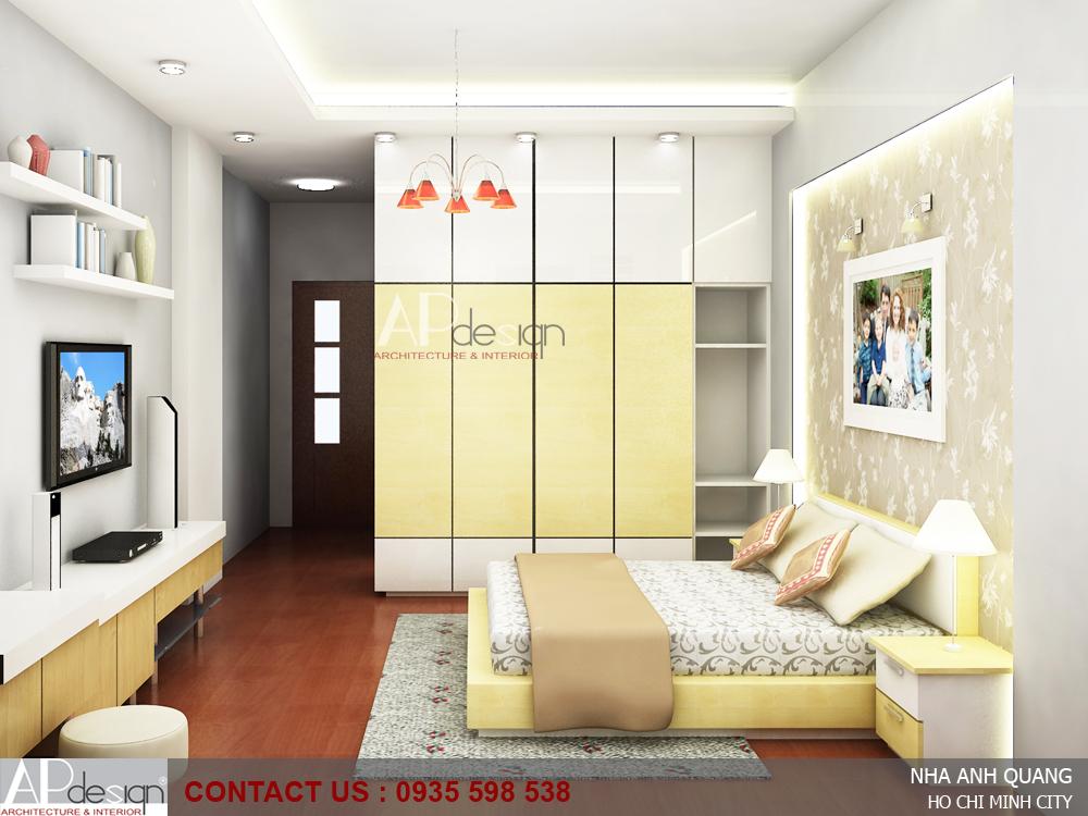 Thiết kế nhà phố anh Quang - Q.Tân Phú