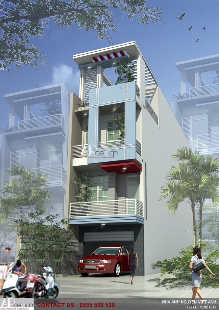 Thiết kế nhà phố lệch tầng - Bình Thạnh