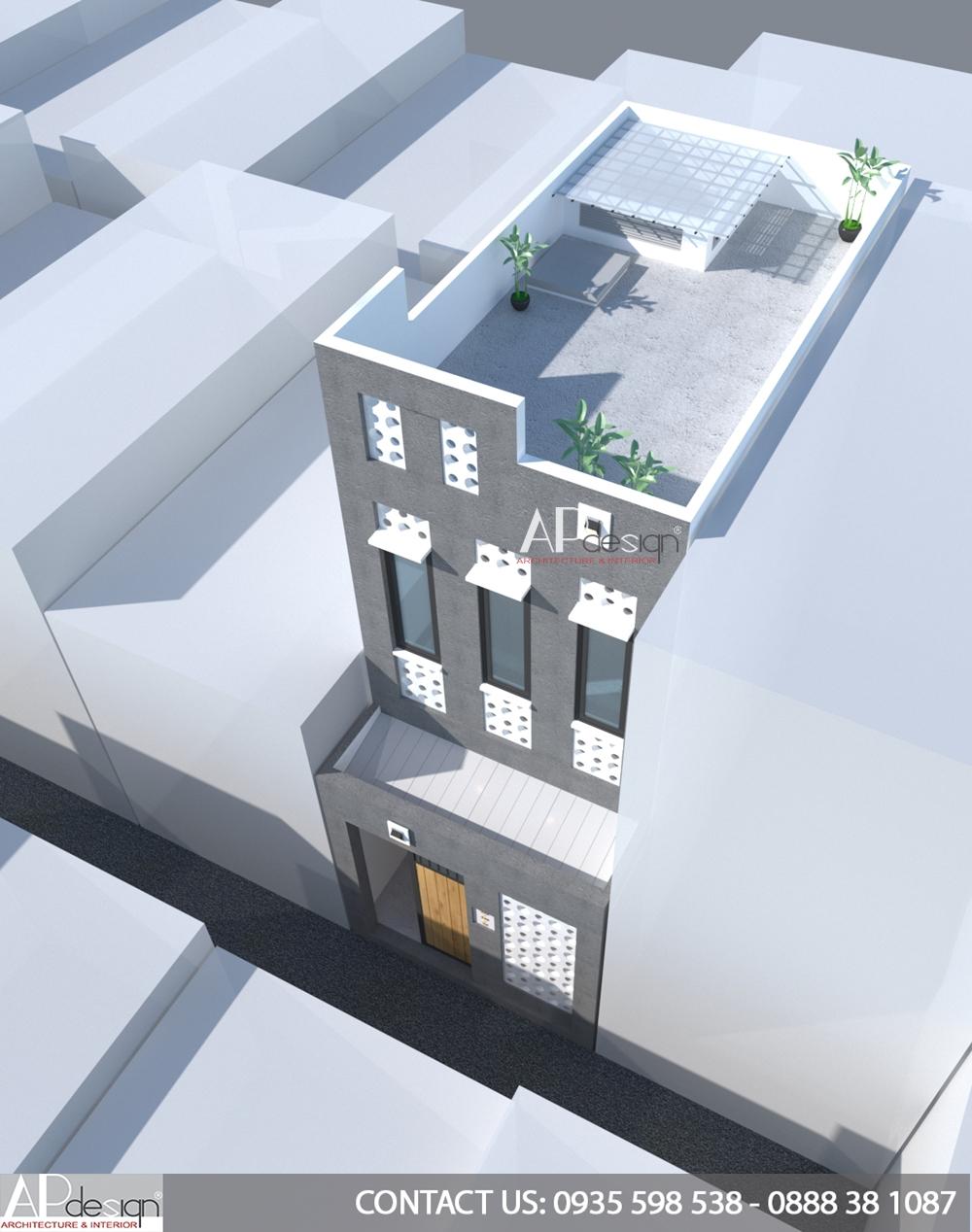 Thiết kế nhà phố 4x7m