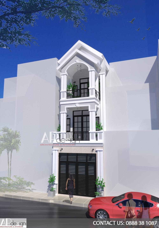 Nhà phố tân cổ điển 4x12m
