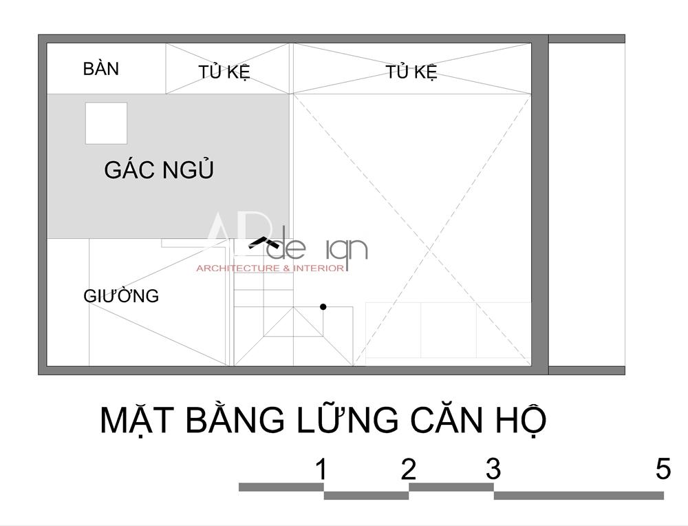 Thiết kế căn hộ mini cho thuê
