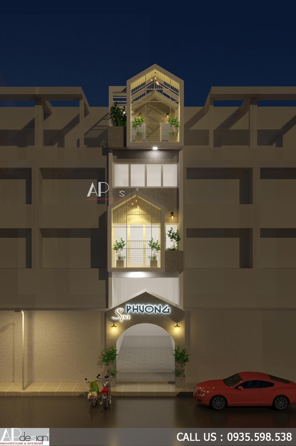 Thiết kế nhà phố kết hợp kinh doanh SPa.