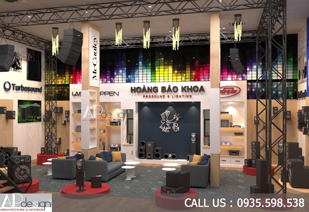 Thiết kế nội thất showroom âm thanh