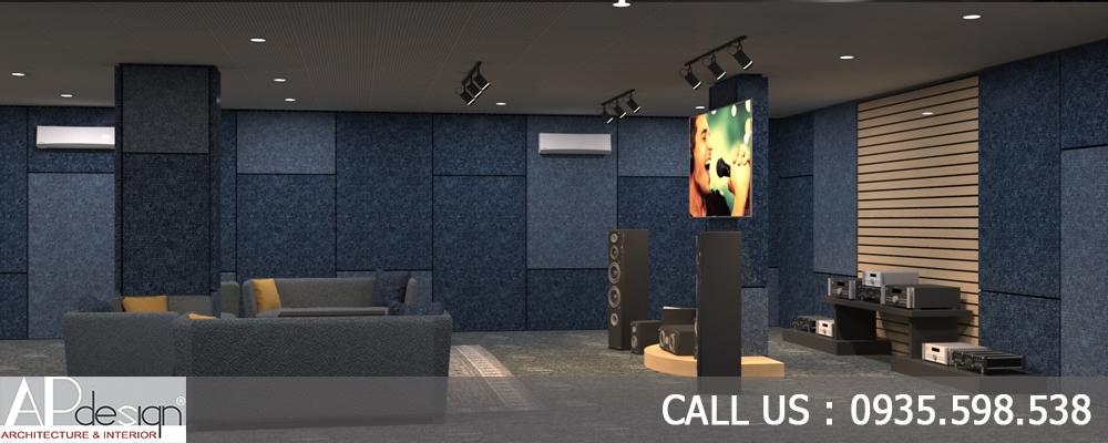 Thiết kế nội thất phòng test âm thanh