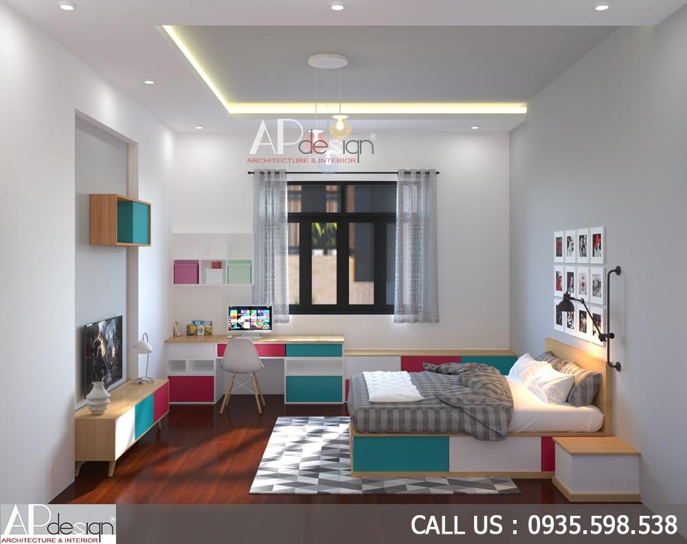 nội thất phòng ngủ thiết kế biệt thự 6m