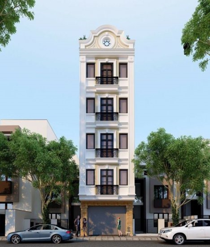 mẫu thiết kế khách sạn mini tân cổ điển
