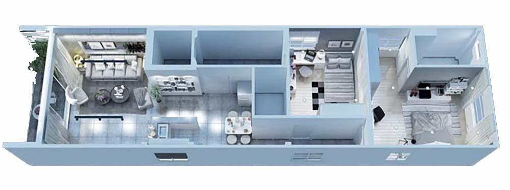Mặt bằng Thiết kế chung cư mini 100m2