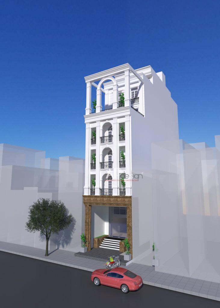 Thiết kế kiến trúc chung cư mini
