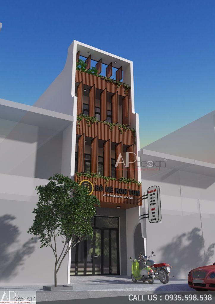 Nhà phố thiết kế lam tránh nắng