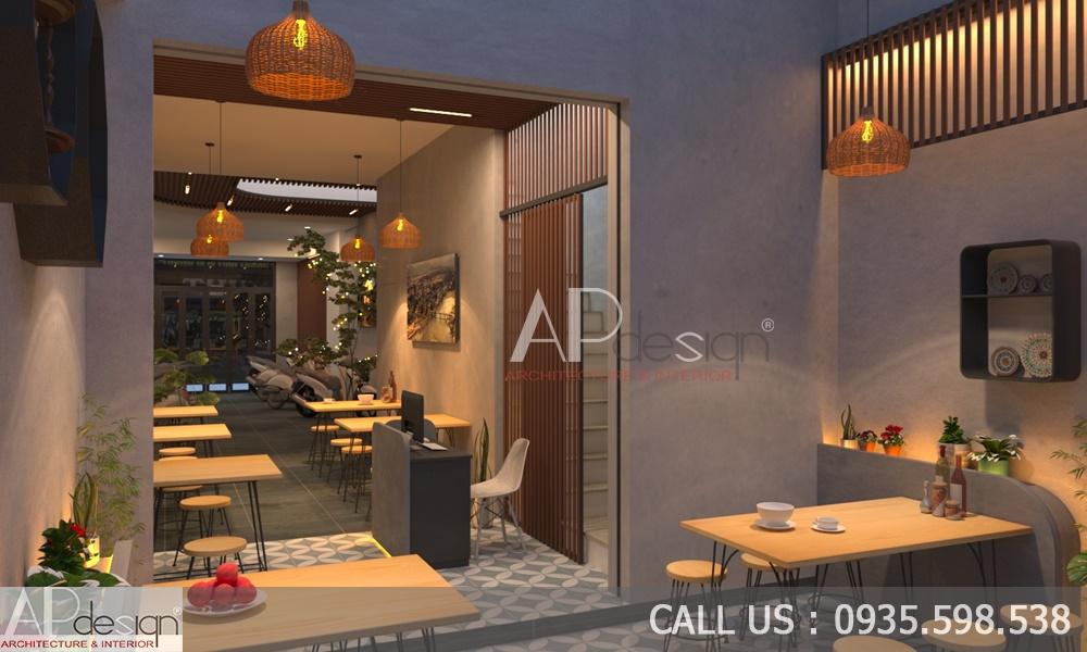 Nội thất Nhà ở kết hợp kinh doanh quán ăn